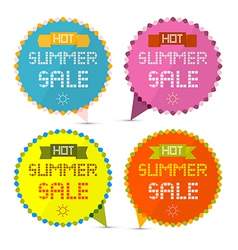 Hot Summer Sale Paper Retro Labels Set vector