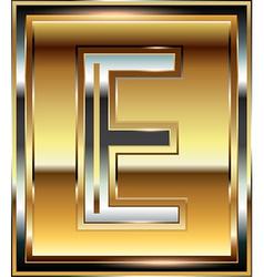 Ingot Font Letter E vector
