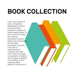 Isolated colorful books collection logo vector image