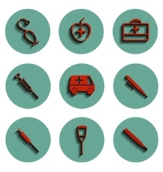 isolated medical icons set vector image