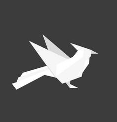 japanese origami paper woodpecker bird vector image
