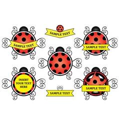 Ladybug logos vector