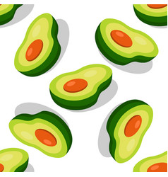 Large avocado seamless pattern for printing vector