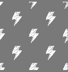lightning seamless pattern vector image