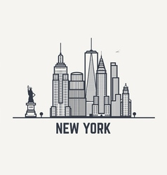 lines new york copy vector image