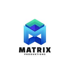 logo matrix gradient colorful style vector image