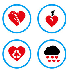 Love troubles rounded icons vector