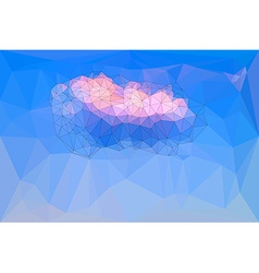 Low polygonal blue sky background vector image