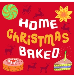 Merry Christmas feature Home Christmas Baked desig vector