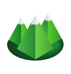 Mountain 3d isometric icon vector image