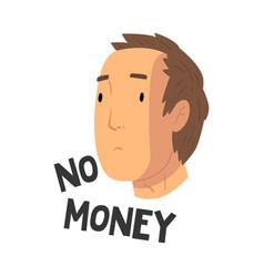 No money teen problem depressed teenager in vector