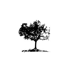 Oak tree template vector