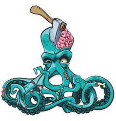 Octopus zombie vector