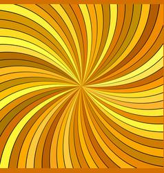 orange psychedelic geometrcial swirl stripe vector image