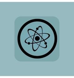 Pale blue atom sign vector