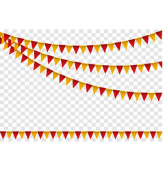 party flags set colorful bunting for happy vector image