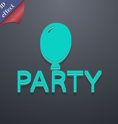 Party icon symbol 3d style trendy modern design vector