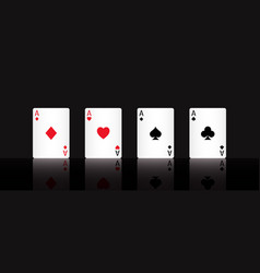 Play poker card ace with a black background vector