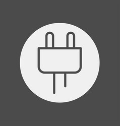 plug icon sign symbol vector image