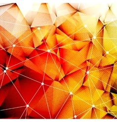 Polygonal Red Orange Triangles Techno Textured vector image