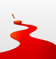 red paint and roller vector image
