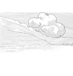 Retro cloudscape vector