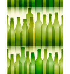 Seamless Glass Bottle Background vector
