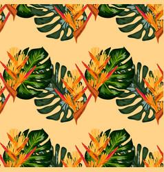 Seamless wallpaper pattern summer jungle art in vector