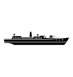 Ship combat icon simple black style vector