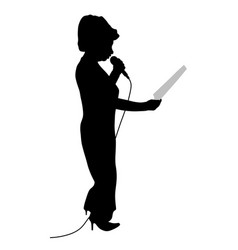 Show host anchorwoman or public speaking woman vector