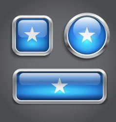 Somalia flag glass buttons vector image