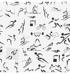 Sport seamless pattern Flat style vector image