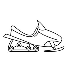 Sport snowmobile icon outline style vector