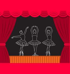 Theatre ballet banner vector