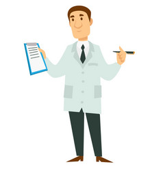 therapist or physician doctor in robe medical vector image