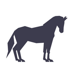 Thoroughbred racing horse derequestrian sport vector