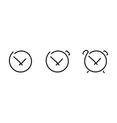 Time set icons vector image