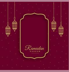 Traditional ramadan kareem islamic background vector