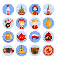 Travel to russia set of for vector