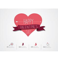 Valentines day infographic vector