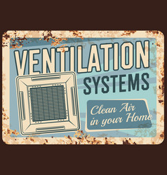 Ventilation systems metal plate rusty home air vector