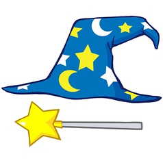 Wizard hat vector