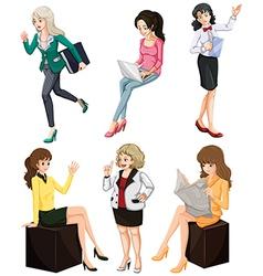 Busy women vector image vector image