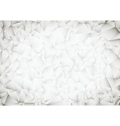 Polygonal White Bright Light Triangles Techno vector image