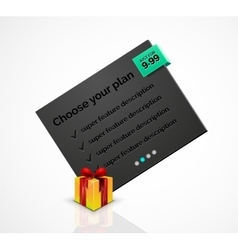 Abstract web message box with Christmas decoration vector image vector image