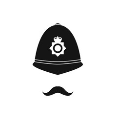british policeman in helmet police avatar vector image vector image
