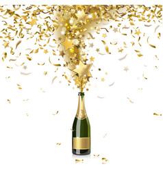 festive champagne vector image