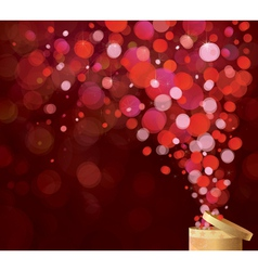 gift red lights vector image vector image