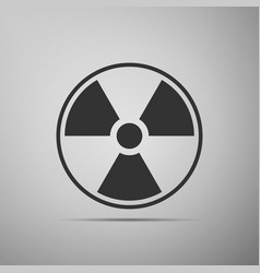 radioactive icon radioactive toxic symbol vector image vector image