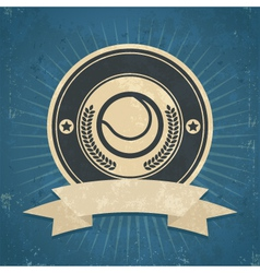 Retro Tennis Ball Emblem vector image